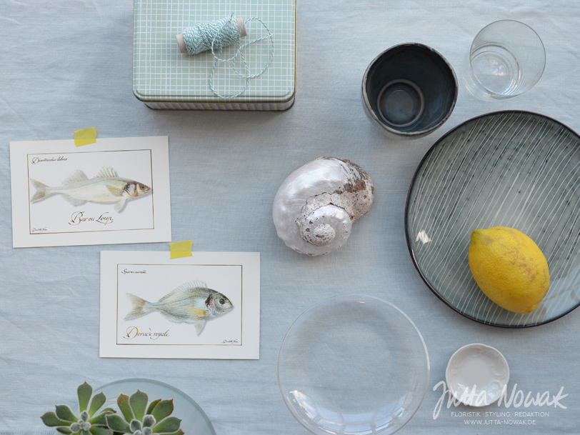 jutta-nowak-blog-styling-collage-sommer-gruentoene-gelb-muschel-fische-materialauswahl2