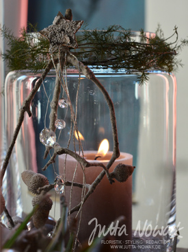 Adventsausstellung 2014 Jutta Nowak: Windlicht-Schmuck