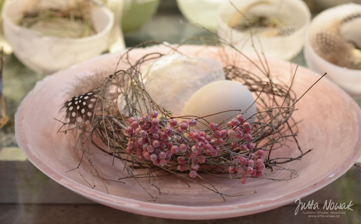 Jutta Nowak Frühlingsausstellung 2015: Wachsschale rosa