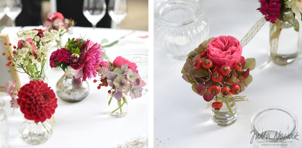 Jutta Nowak Hochzeitsfloristik Spatsommerliche Tischdeko Im Vintage