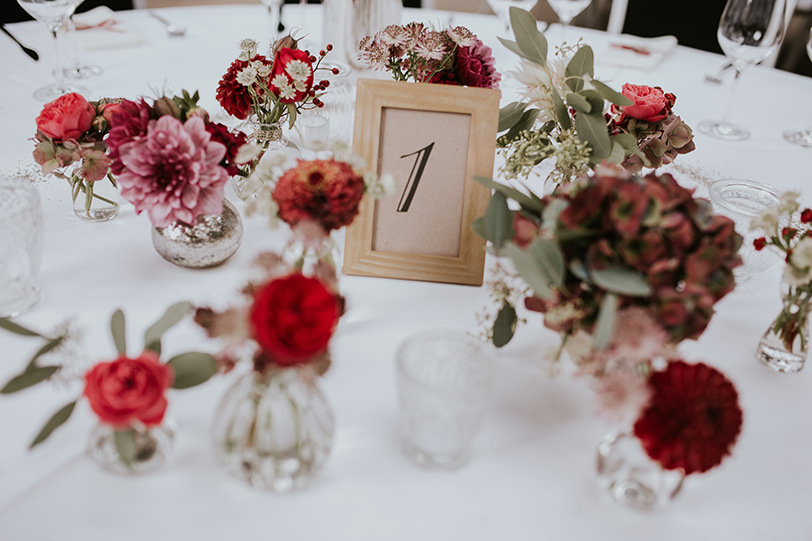 Jutta Nowak I Hochzeit I Floristik I Tischdeko I Foto: © Alina Schessler