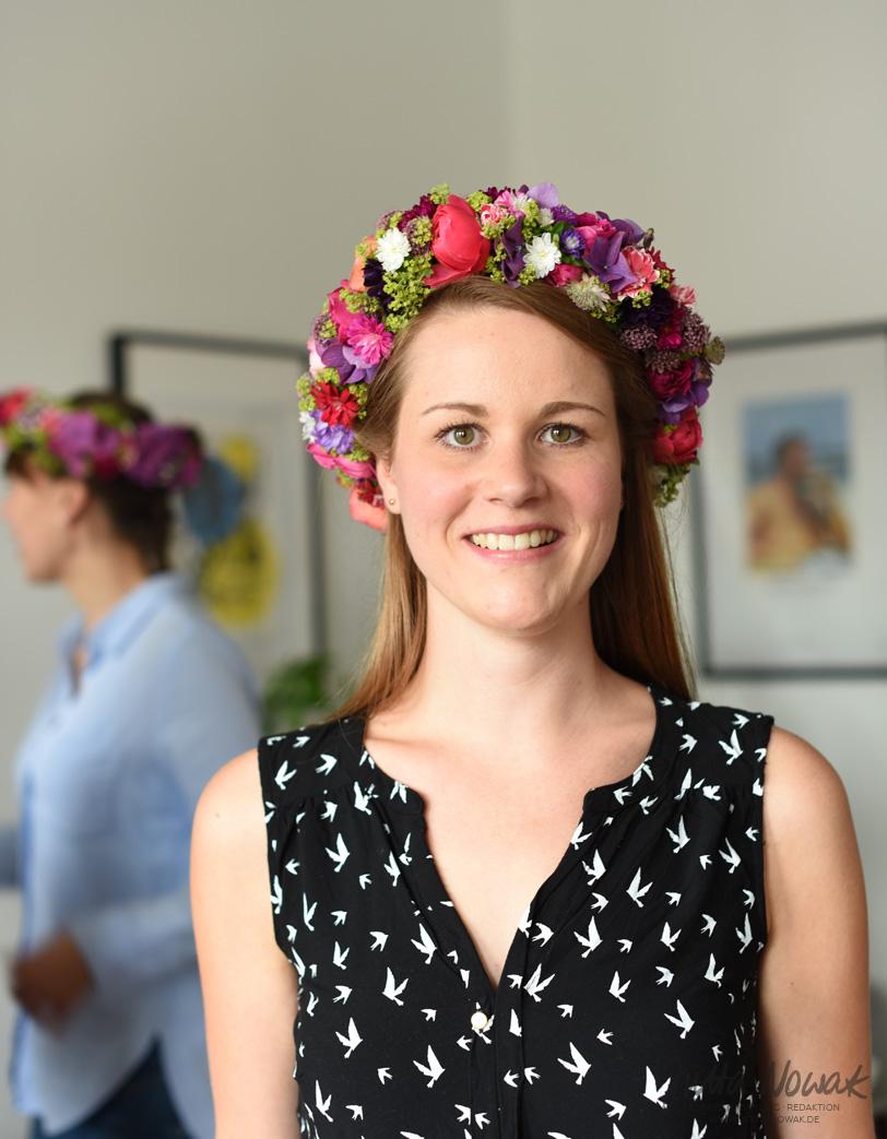 Jutta Nowak I Floristik Workshop: Blumenkränze wickeln zum JGA I Flowercrown I bunter Spätsommer