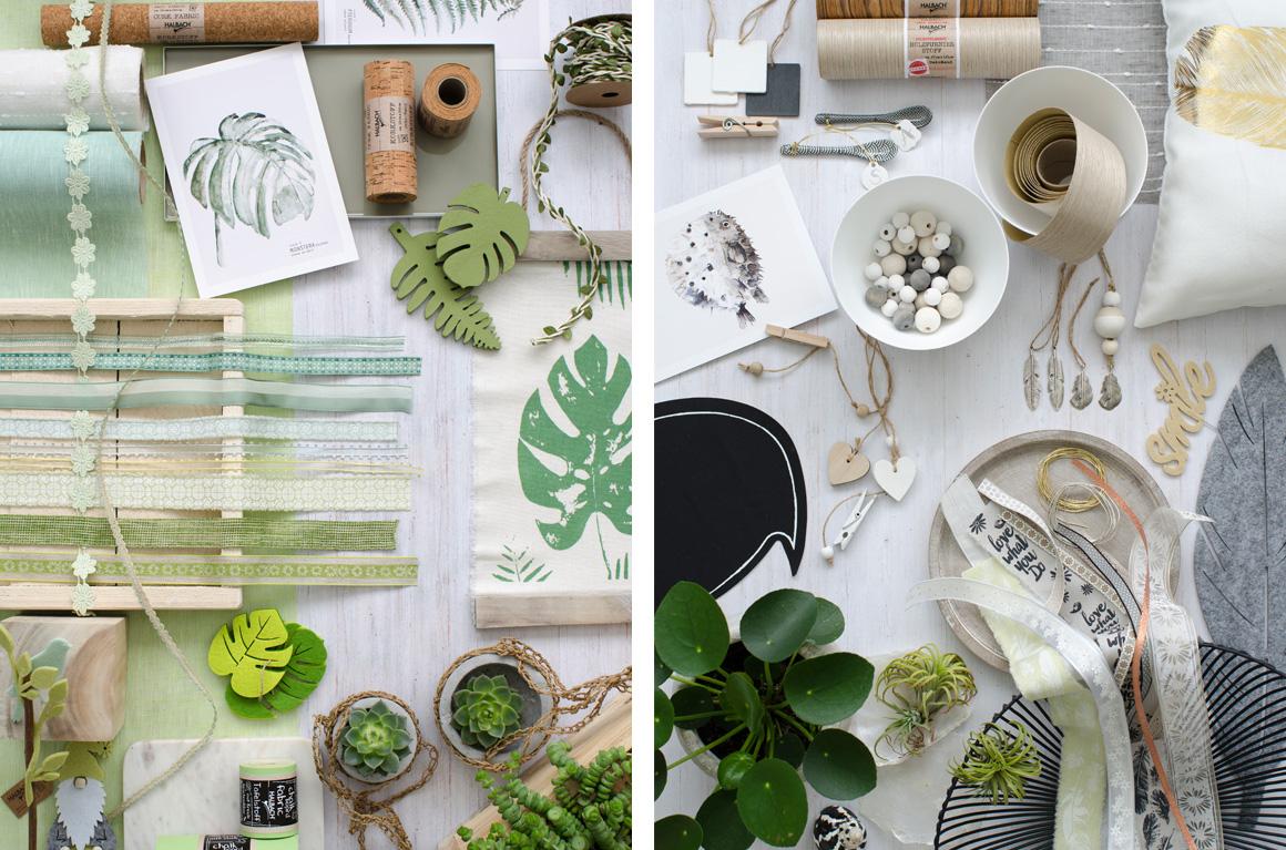 Jutta Nowak I Styling I Produktcollagen für Halbach Seidenbänder I Sommer 2017