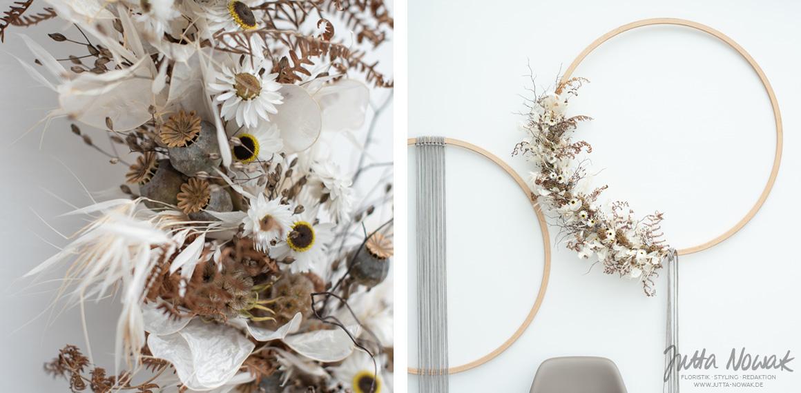 Jutta Nowak I Floral Styling I Flower Wreath I Trockenblumen
